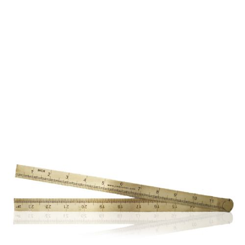 Brass Ruler Jim Blurton (narrow) 2ft